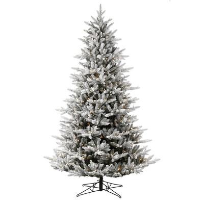 Vickerman Flocked Aspen Fir Artificial Christmas Tree