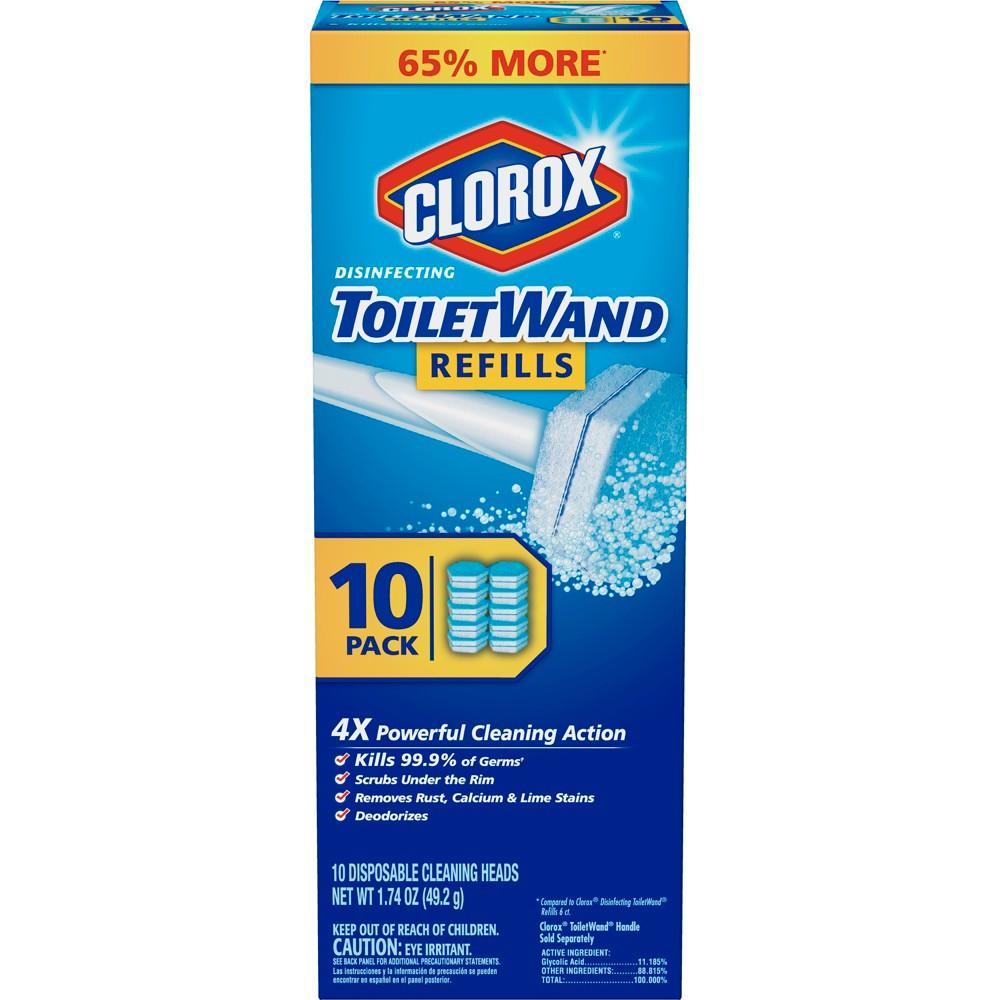 Clorox ToiletWand Disinfecting Refills 10 ct., White