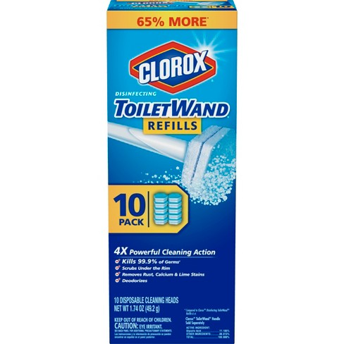 Clorox ToiletWand Disinfecting Refills Disposable Wand Heads - 10ct - image 1 of 4