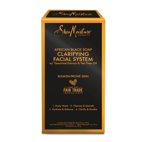 SheaMoisture African Black Soap Clarifying Facial System - image 1 of 4