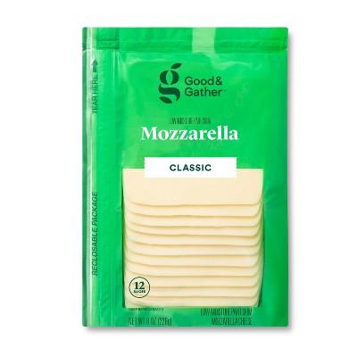Mozzarella Deli Sliced Cheese - 8oz/12 slices - Good & Gather™