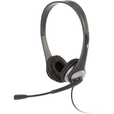 Cyber Acoustics AC-204 Headset - Stereo - Wired - 20 Hz - 20 kHz - Over-the-head - Binaural - Semi-open - 7 ft Cable - Noise Cancelling Microphone