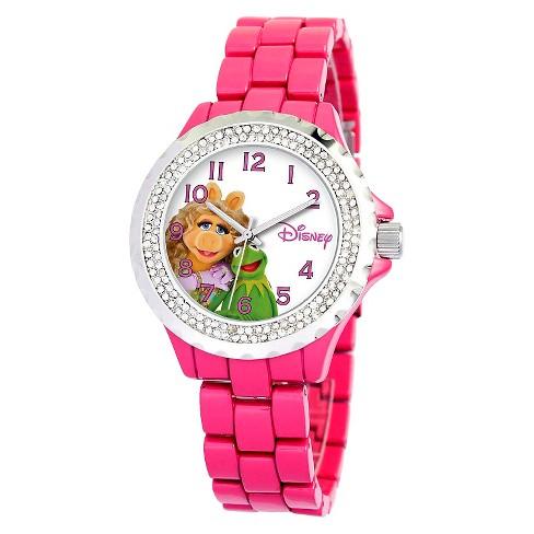 Women's Disney® Muppets Enamel Sparkle Watch - Pink - image 1 of 2