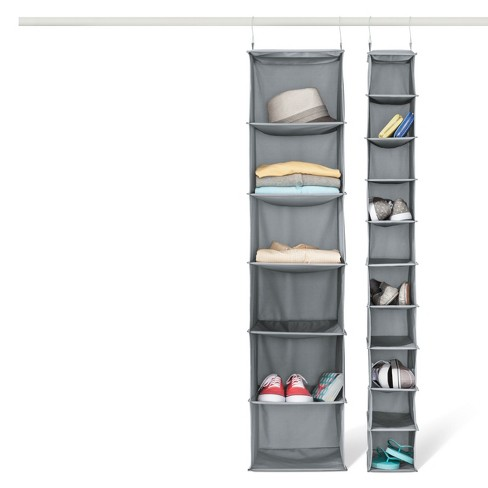 6 Shelf Hanging Closet Organizer Gray Room Essentials Target