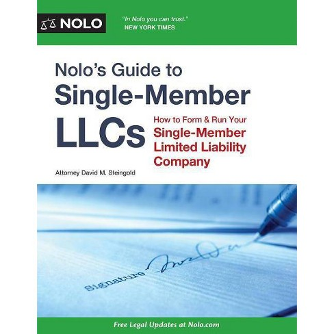 Nolo's Guide to Single-Member LLCs - by  David M Steingold (Paperback) - image 1 of 1