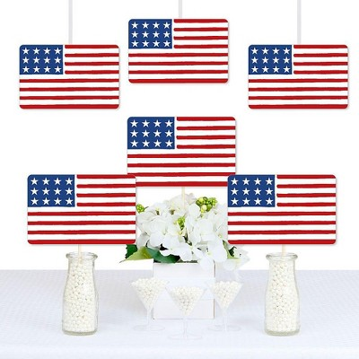 Big Dot of Happiness Stars & Stripes - American Flag Decorations DIY Memorial Day, 4th of July & Labor Day USA Patriotic Party Essentials - Set of 20