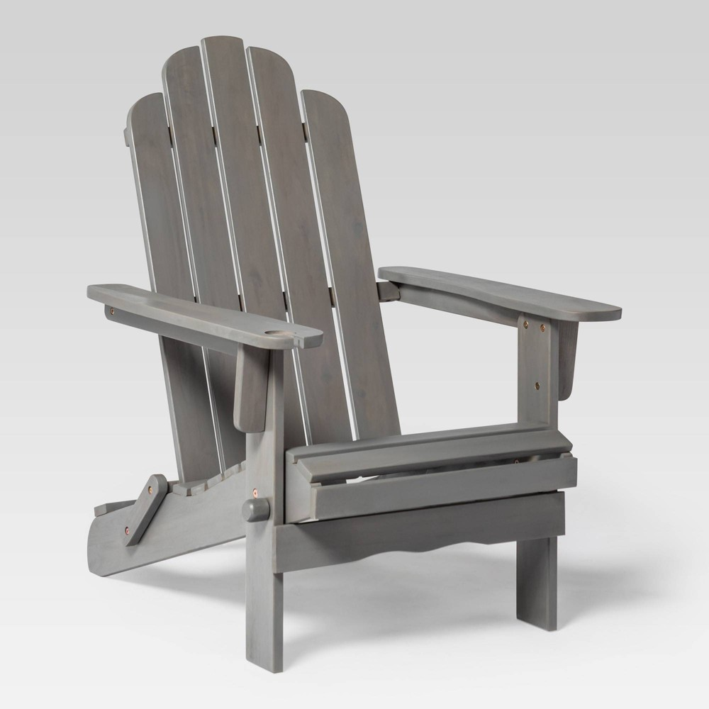 Wood Adirondack Patio Chair Gray - Saracina Home
