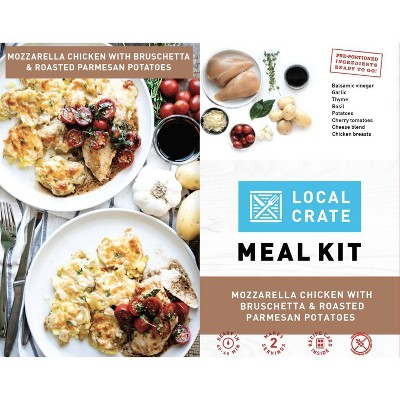 Local Crate Mozzarella Chicken with Bruschetta & Roasted Potatoes Meal Kit - Serves 2 - 36.6oz