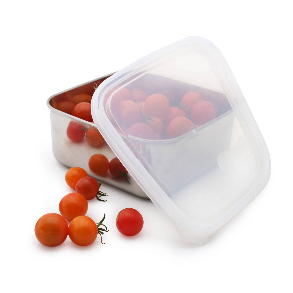 U Konserve To Go Stainless Steel Food Storage Container Square 15oz Clear 160 Plastic Lid