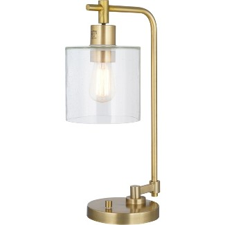 Hudson Industrial Table Lamp Antique Brass (Lamp Only) - Threshold™