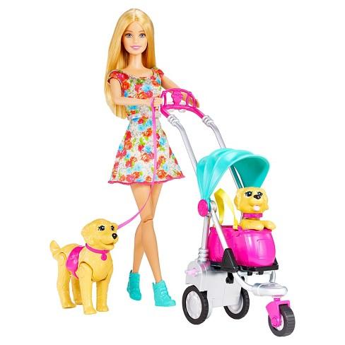 Barbie Strollin' Pups Playset - image 1 of 4