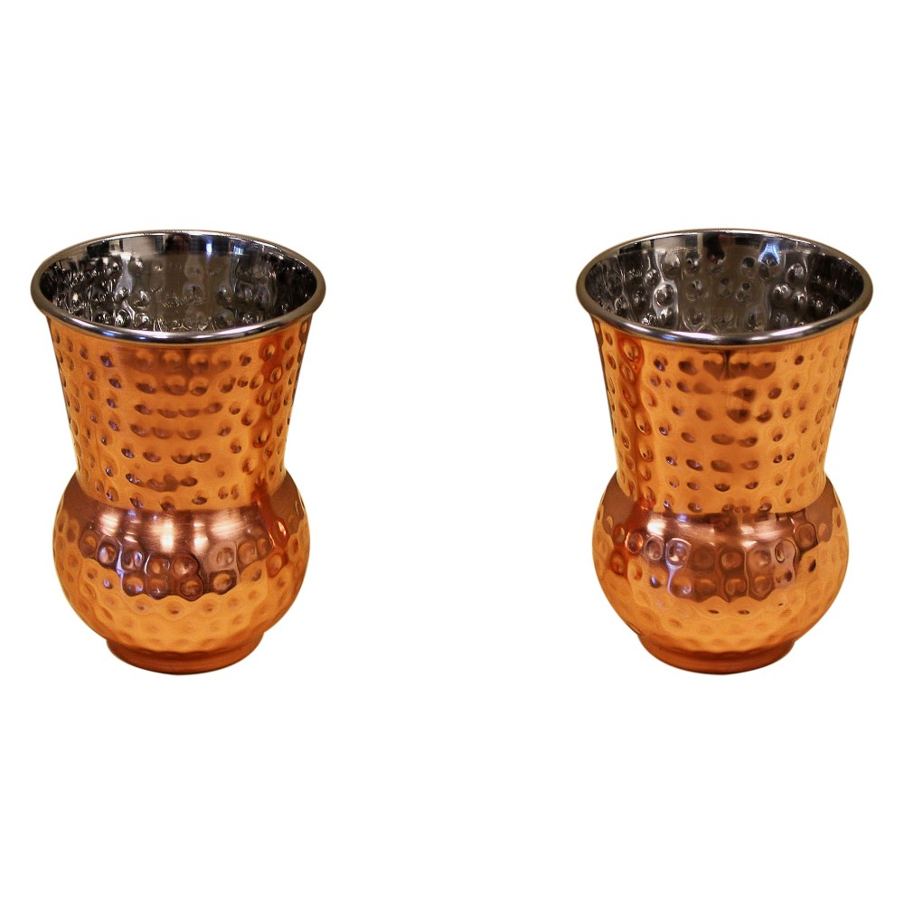 Image of Epicureanist 2pk Copper Whiskey Tumblers, Brown