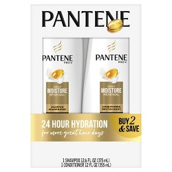 Pantene Pro-V Daily Moisture Renewal Shampoo and Conditioner Bundle - 24.6 fl oz