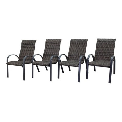 Santa Fe 4pc Wicker Chairs - Silver - Courtyard Casual