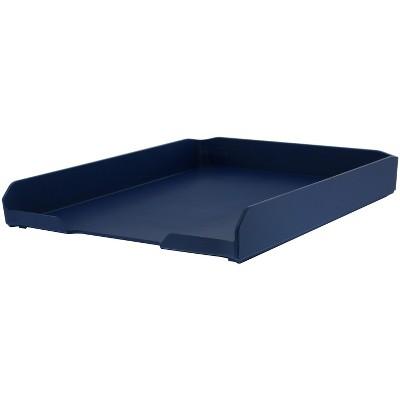 "Bostitch Konnect Plastic Letter Tray Stackable 10.25"" Blue (KT-CARD-BLUE) 24357590"