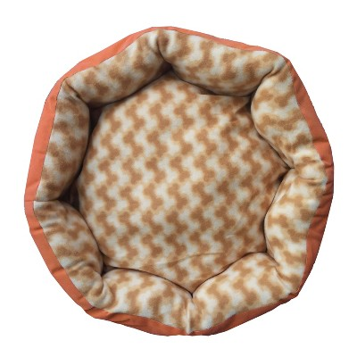 Small Pet Bed 20x20 Inch Round Plush Puppy Floor Pillow