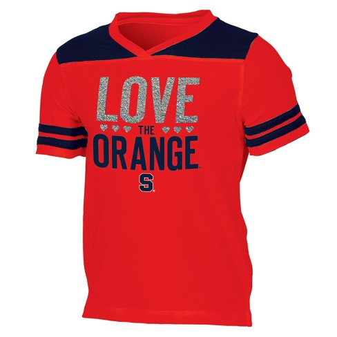 Syracuse Orange Girls' Short Sleeve Team Love V-Neck T-Shirt - image 1 of 2