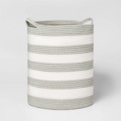 Floor Coiled Stripe Rope Gray - Pillowfort™