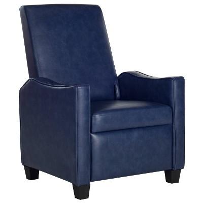 Holden Recliner Chair - Navy - Safavieh