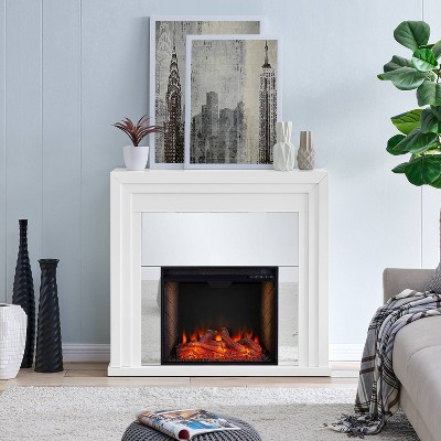 Swanmoor Mirrored Fireplace with Alexa Firebox - Aiden Lane
