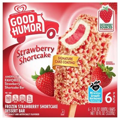 Good Humor Ice Cream & Frozen Desserts Strawberry Shortcake Bar - 6pk