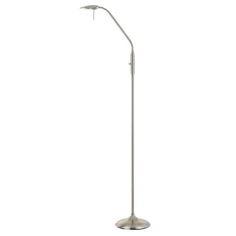 Anzio Led Metal Gooseneck Floor Lamp Steel 6 8 X24 Includes Energy Efficient Light Bulb Cal Lighting