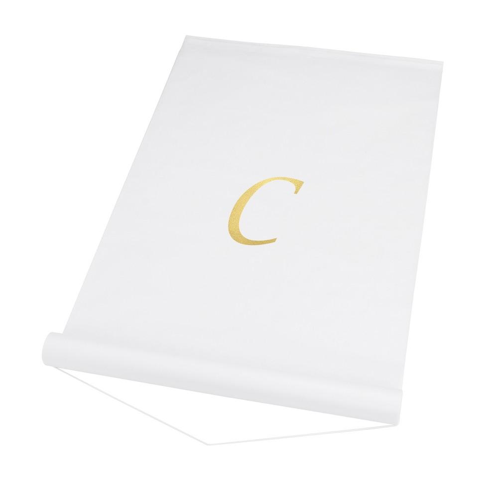 34 C 34 Personalized Wedding Aisle Runner White