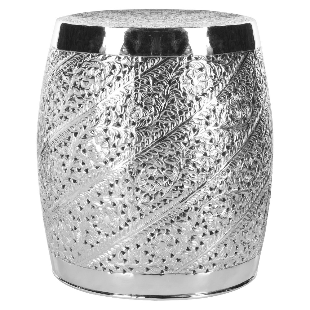 Liam Etched Stool Nickel Plated - Safavieh