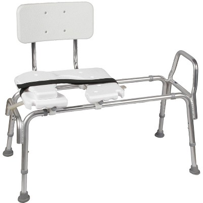 DMI Transfer Bench Sliding Shower Chair - HealthSmart