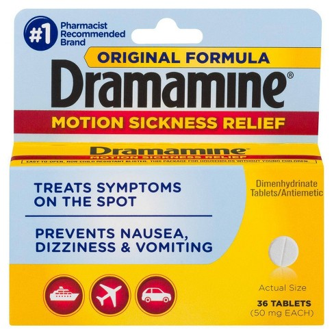 Dramamine Original Formula Motion Sickness Relief Tablets - 36ct - image 1 of 4