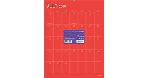 Color Collection Monthly 2018-2019 Calendar -  (Paperback) - image 1 of 1