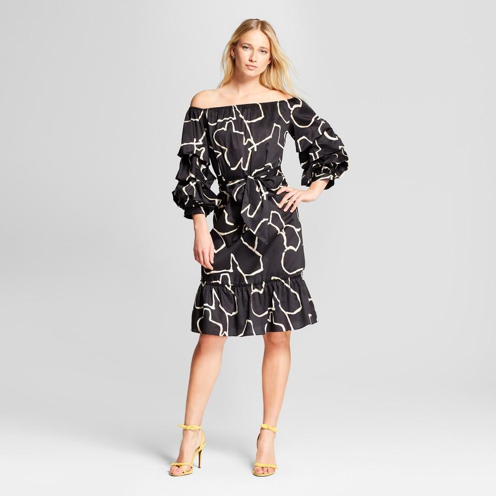 Women's Pick Up Sleeve Bardot Dress - Who What Wear Black S