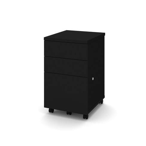 3 Drawer Assembled 2U1F Mobile Pedestal/File Cabinet - Bestar - image 1 of 2