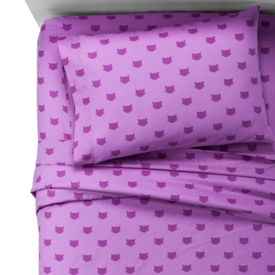 Cats Violet 100% Cotton Sheet Set (Queen)- Pillowfort™