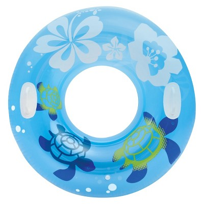 Intex 38  Clear Color Inflatable Pool Tube Float, Colors May Vary