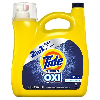 Tide Simply + Oxi Refreshing Breeze Liquid Laundry Detergent - 150 fl oz