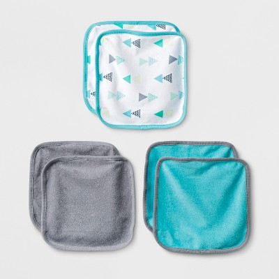 Baby Boys' Geo Bright 6pk Washcloths - Cloud Island™ Turquoise