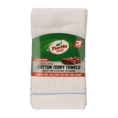 3pk 5 x10  Deluxe Terry Towel White - Turtle Wax