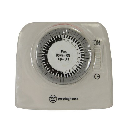 Westinghouse Westinghouse 2-Outlet 24-Hour Heavy Duty Mechanical Pin Lamp Timer