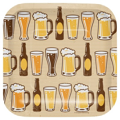 "Cheers and Beers 7"" Dessert Plates - 8ct"