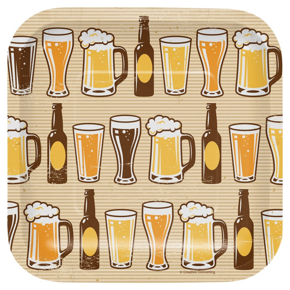 Cheers and Beers 7 Dessert Plates - 8ct