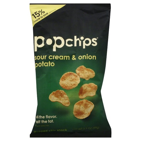 Popchips Cheddar Sour Cream & Onion Potato Snack 3.5 oz 12 pack - image 1 of 1