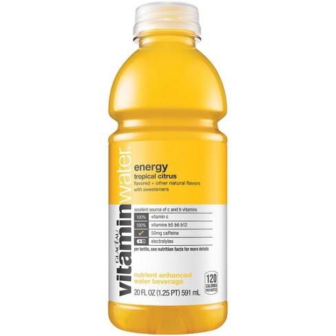 Vitamins For Energy >> Vitaminwater Energy Tropical Citrus 20 Fl Oz Bottle