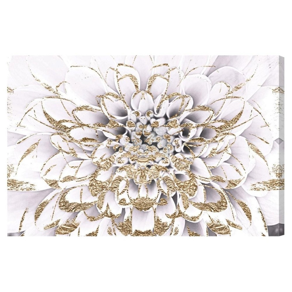 """Image of """"Oliver Gal Unframed Wall """"""""Floralia Blanc"""""""" Canvas Art (24x16)"""""""