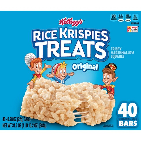 Rice Krispies The Original Treats Crispy Marshmallow Cereal Bars - 40ct - Kellogg's - image 1 of 8