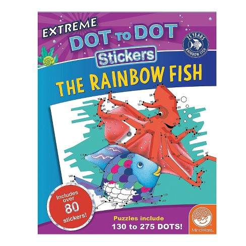 MindWare Rainbow Fish Dot To Dot Sticker Book - Early Learning - image 1 of 4