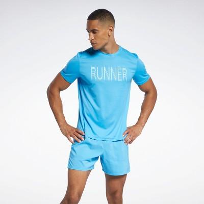 Reebok Run Essentials Graphic T-Shirt Mens Athletic T-Shirts