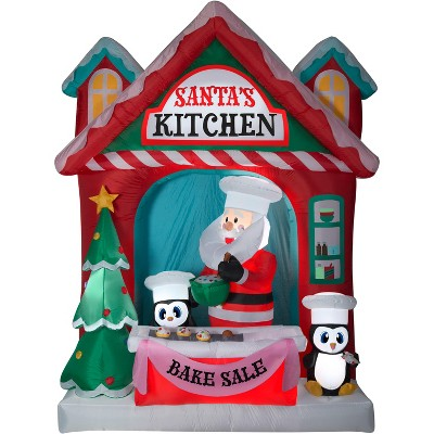 Gemmy Christmas Airblown Inflatable Santa's Vintage Kitchen Scene Giant, 10 ft Tall, Multicolored