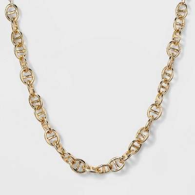 SUGARFIX by BaubleBar Double Link Chain Collar Necklace - Gold