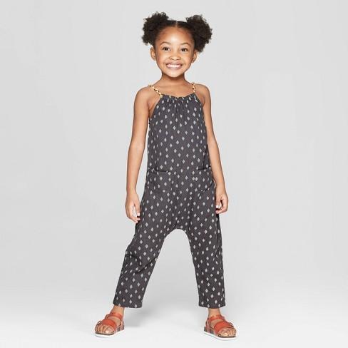 9cc09b3ecee Toddler Girls  Diamond Romper Bodysuit - Art Class™ Black 4T   Target